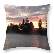 Snake River Sunrise Throw Pillow