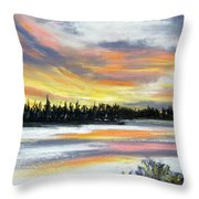 Snake River Sunset Throw Pillow