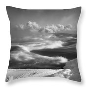 Snake River Winter Throw Pillow