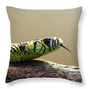 Snake Tongue Throw Pillow
