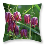 Snakes Head Flowers Throw Pillow