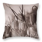 Snake's Head Fritillary  Throw Pillow