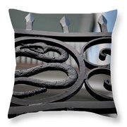 Snakes On A Gate Throw Pillow