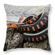 Snakes On A Stump Throw Pillow