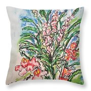 Snap Dragons Throw Pillow