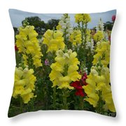 Snapdragons Flowers 3 Throw Pillow
