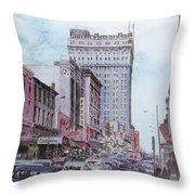 Snapshot Of Greensboro Throw Pillow