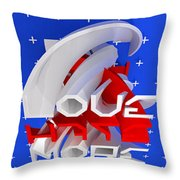 Sneaky Hate - Cg Render Throw Pillow