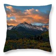 Sneffels Autumn Sunrise Throw Pillow