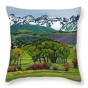 Sneffels Range Spring Acrylic Throw Pillow