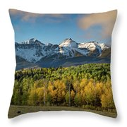 Sneffls Range Panorama From County Road 5  Throw Pillow