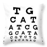 Snellen Chart - Genetic Sequence Throw Pillow