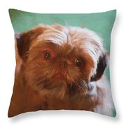 Snicker Doodle 852 -  Painting Throw Pillow