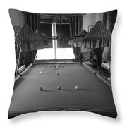 Snooker Room Throw Pillow