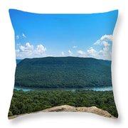 Snooper's Rock Overlook Throw Pillow