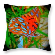 Snooty Butterfly Throw Pillow
