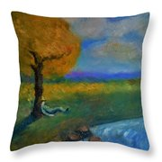 Snoozing On A Warm Autumn Afternoon Throw Pillow