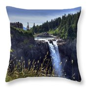 Snoqualmie Falls Throw Pillow