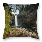 Snoqualmie Falls Throw Pillow