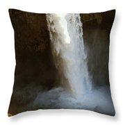 Snoqualmie Falls Washington Throw Pillow