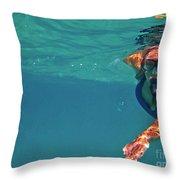 Snorkeler 2 Throw Pillow by Bette Phelan