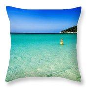 Snorkeling At Karon Beach Throw Pillow
