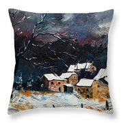 Snow 57 Throw Pillow