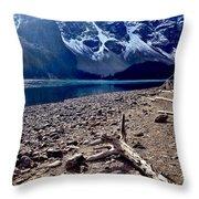 Snow Above Moraine Lake Throw Pillow
