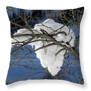 Snow And Africa Throw Pillow