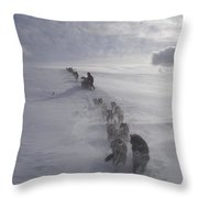 Snow And Clouds Throw Pillow