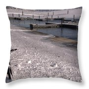 Snow And Ice Throw Pillow