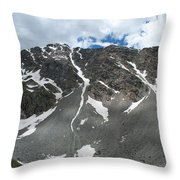 Snow And Rock Throw Pillow