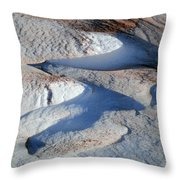 Snow And Sand Throw Pillow