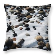 Snow And Stone Throw Pillow