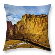 Snow And Sun Throw Pillow