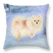 Snow Angel Throw Pillow