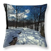 Snow At Faiallo Pass - Nevicata Al Passo Del Faiallo Sull'alta Via Dei Monti Liguri Throw Pillow