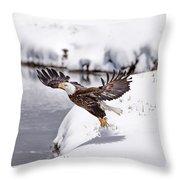 Snow Ballet Throw Pillow
