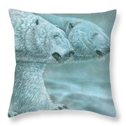 Snow Blind Throw Pillow