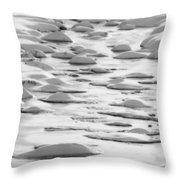Snow Bubbles  Throw Pillow