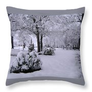Snow Bush Throw Pillow
