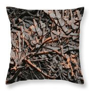 Snow By Gaslight Throw Pillow