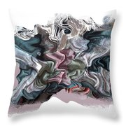 Snow Capped Cloth Throw Pillow