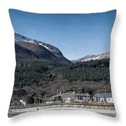 Snow Capped Mourne Mountains Throw Pillow