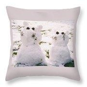 Snow Cats Throw Pillow