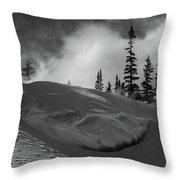 Snow Circle In The Mountains Throw Pillow