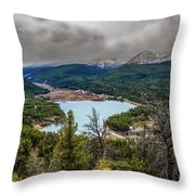 Snow Coming Throw Pillow