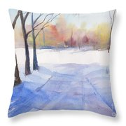 Snow Country Throw Pillow