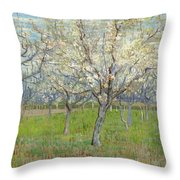 Snow-covered Field With A Harrow After Millet Saint Remy De Provence, January 1890 Vincent Van Gog Throw Pillow