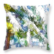 Snow-covered Tree Branch  3 Throw Pillow